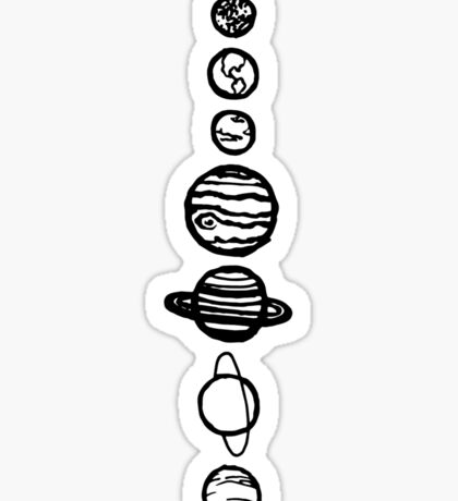 White Planets Sticker