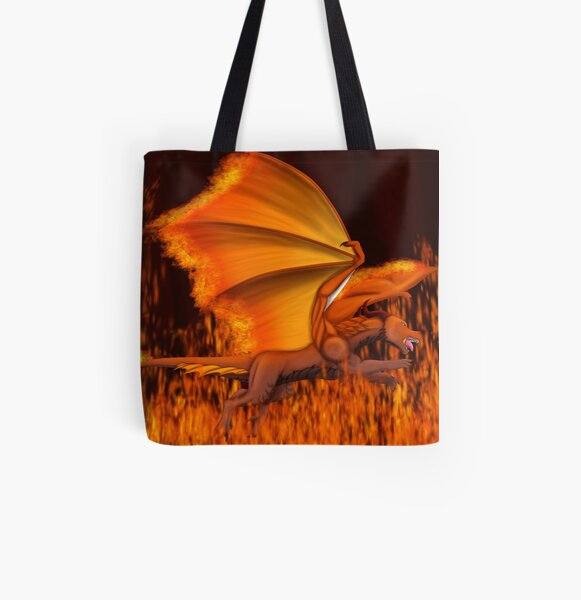 Fire Guardian All Over Print Tote Bag