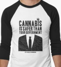 Cannabis is Safer Than Your Government Baseball ¾ Sleeve T-Shirt