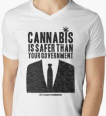 Cannabis is Safer Than Your Government Men's V-Neck T-Shirt