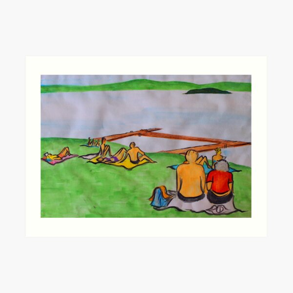 Dreaming of lazy summer afternoons on the banks of Lake Mälaren Art Print