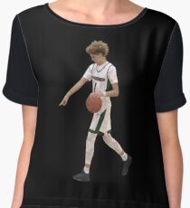 LaMelo Ball From Half Court Low Poly Women's Chiffon Top