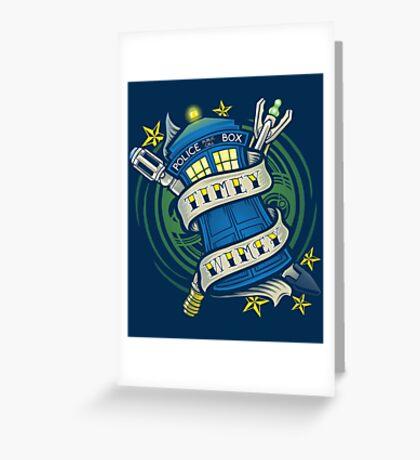 Timey Wimey  Greeting Card