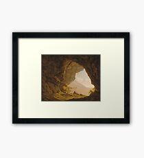 Cavern, near Naples 1774 Joseph Wright  Framed Print