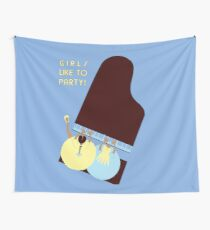Retro style Girls like to Party! Wall Tapestry