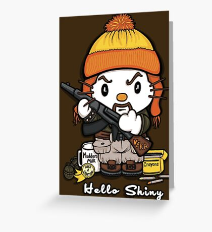 Hi Shiny Greeting Card