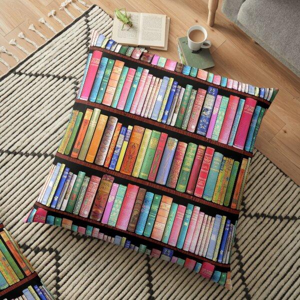 Bookworm Antique books Floor Pillow