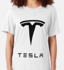 tesla logo Slim Fit T-Shirt