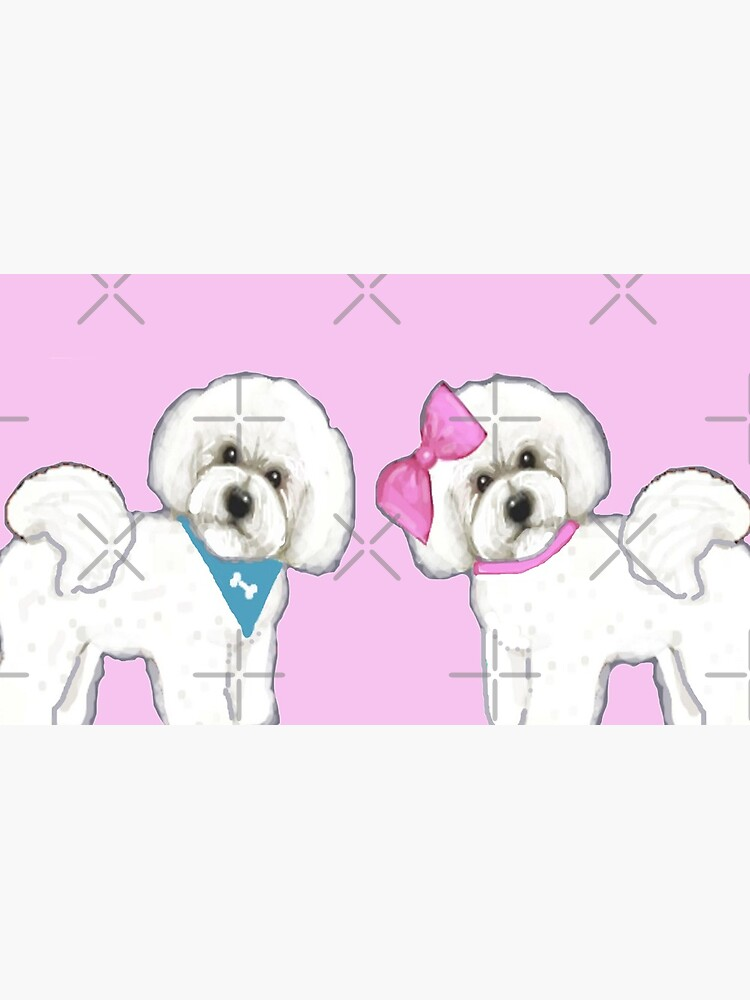 Bichon Frise Love, Dog, Bichon, Holiday gift, Christmas gift, by MagentaRose