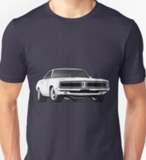 1967 Dodge Charger RT Drawing T-Shirt