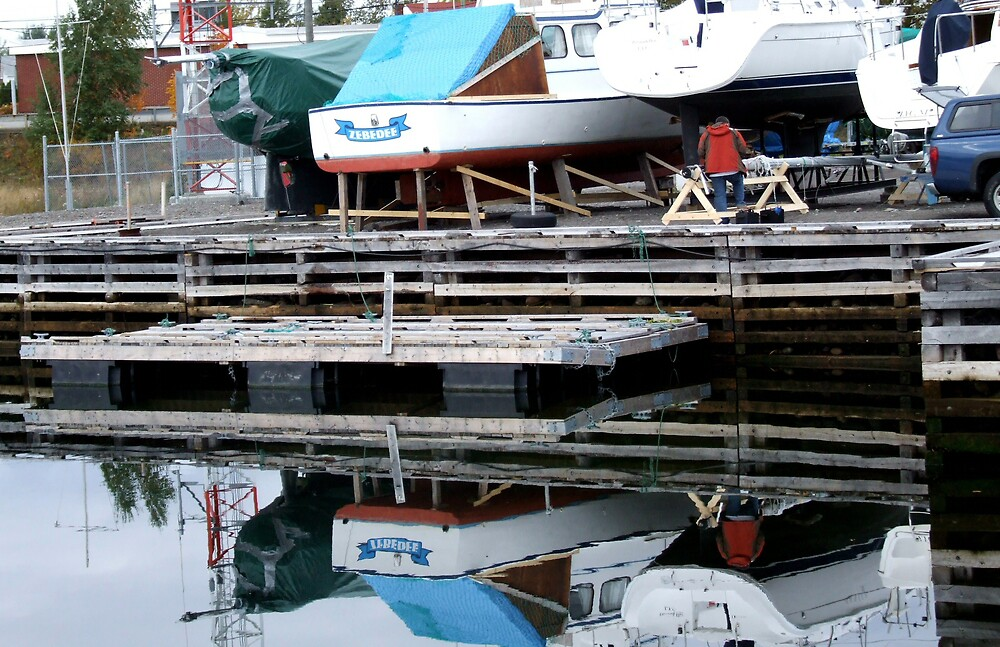 Port Reflections by Leo  Head