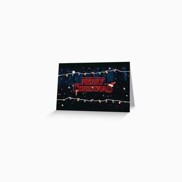 Merry Christmas Stranger Things Greeting Card