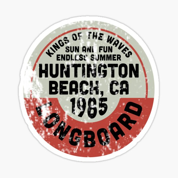 Vintage Huntington Beach Sticker