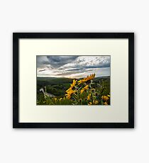 Calm Before The Storm. Framed Print