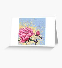 peony flowers Greeting Card