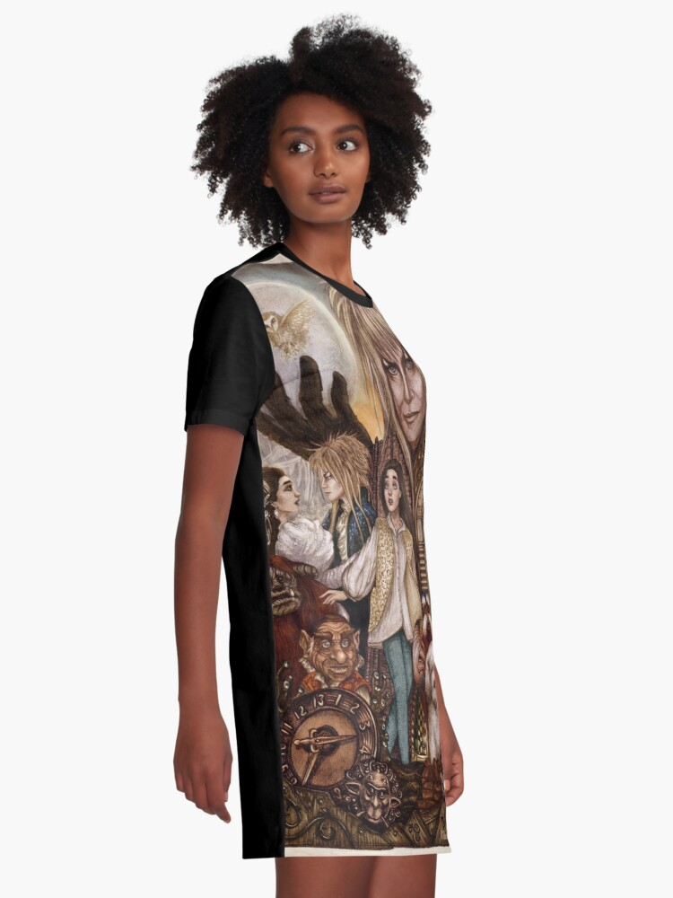Alternate view of Labyrinth Graphic T-Shirt Dress