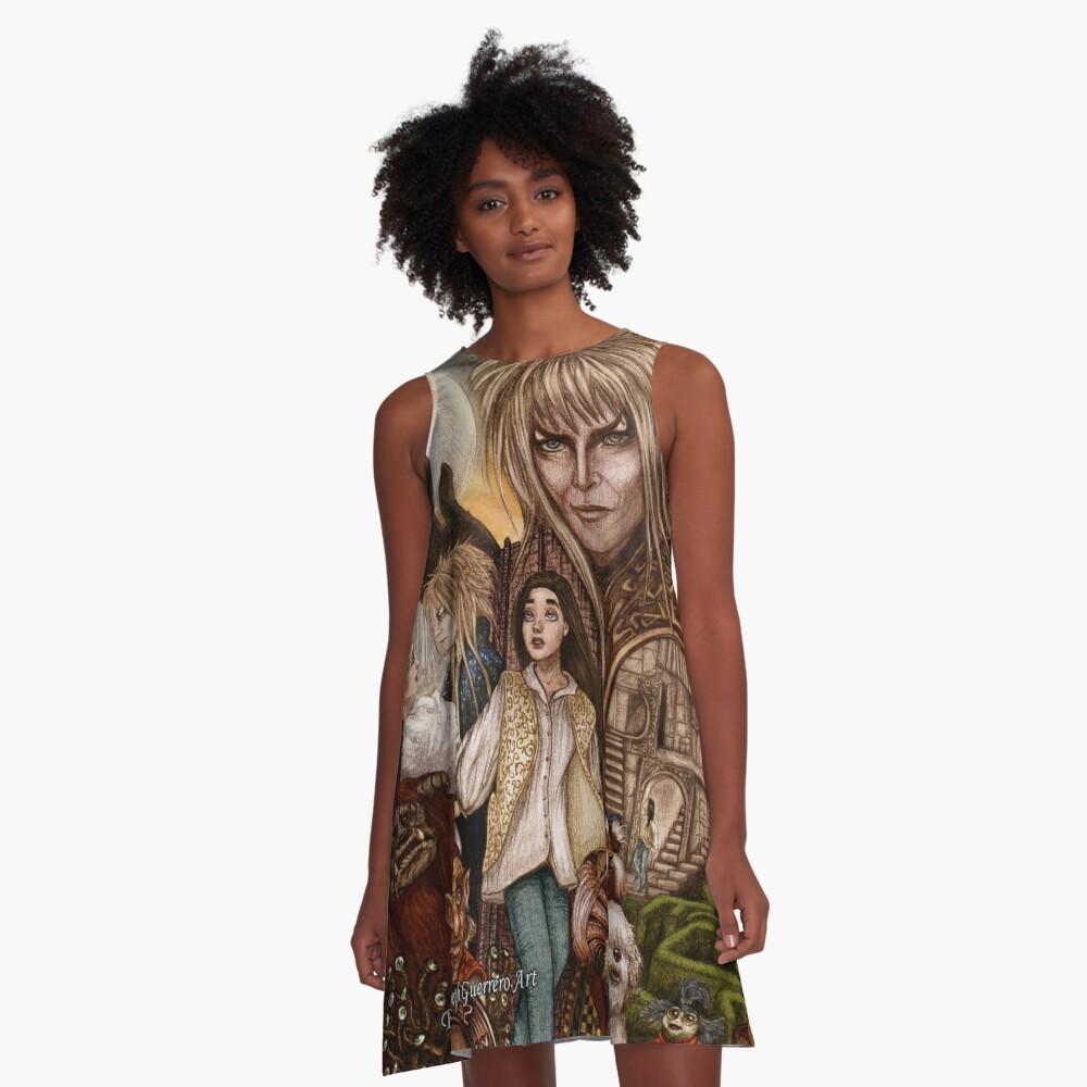 Labyrinth A-Line Dress Front