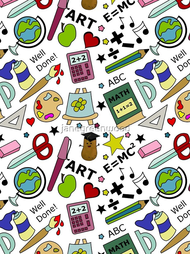 Back To School Supplies Doodle Art by janegreenwood