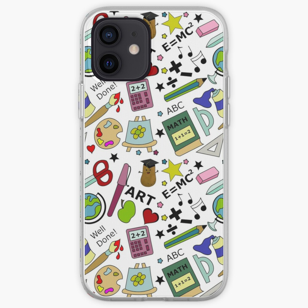 Back To School Supplies Doodle Art iPhone Case & Cover