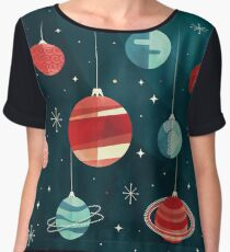 Joy to the Universe (Teal Version) Chiffon Top