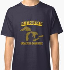 'Michigan Unsalted & Shark Fre' Amazing  Lakes  Classic T-Shirt