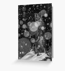 Spirit Bear in Snowstorm Greeting Card