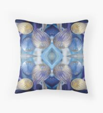 Chihuly Blue Glass at Makers Mark Throw Pillow