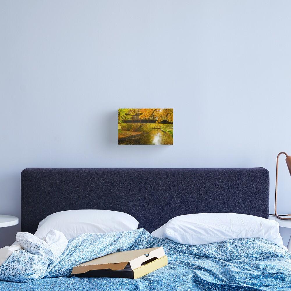 Bridge to Autumn Canvas Print