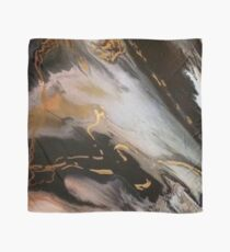 Black, White, Gold Marble Scarf