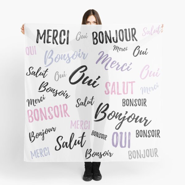 French Words Scarf
