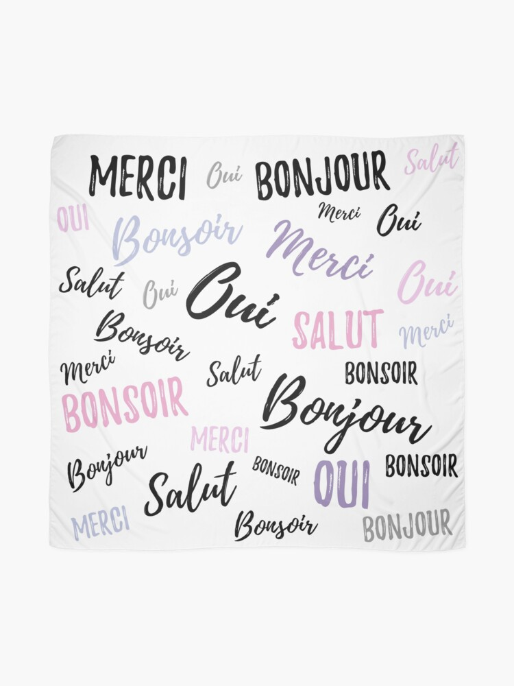 Alternate view of French Words Scarf