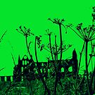 Whitby Abbey in Green  by Travelwithmyart