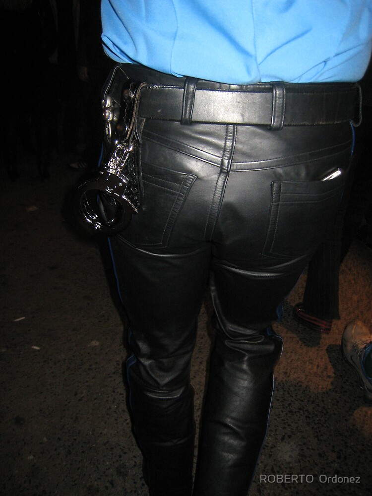 leather cop by BOBBYBABE