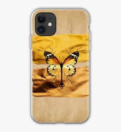 Gold and Copper Butterfly iPhone Case