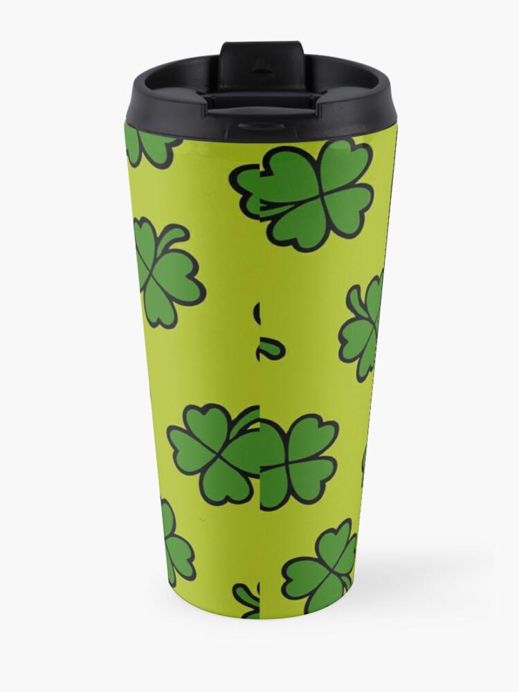 Alternate view of Lucky Four Leaf Clover Pattern Travel Mug