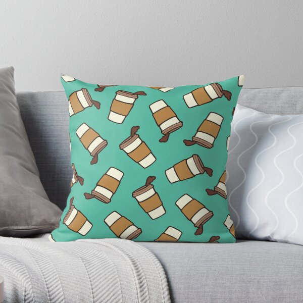 Take it Away Coffee Pattern Throw Pillow