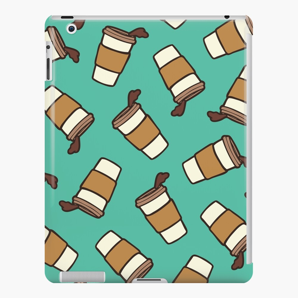 Take it Away Coffee Pattern iPad Case & Skin