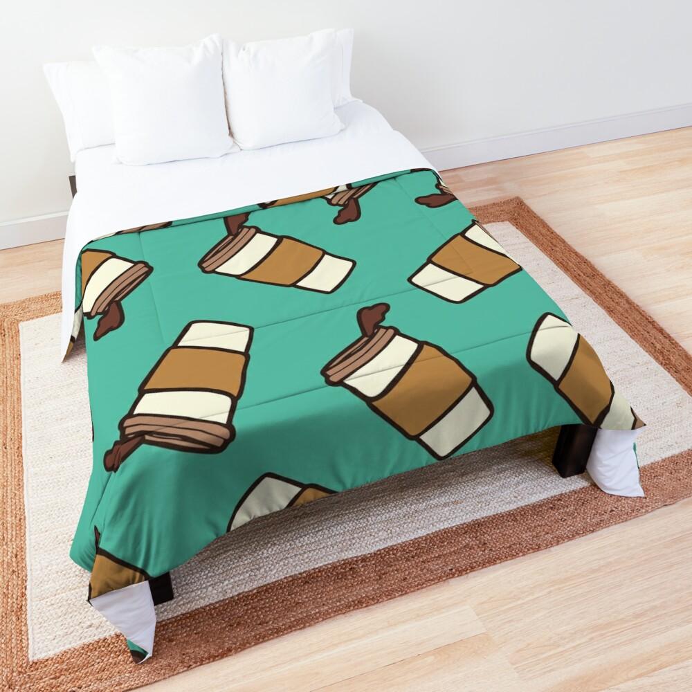 Take it Away Coffee Pattern Comforter