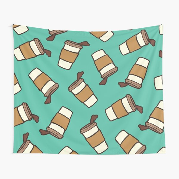 Take it Away Coffee Pattern Tapestry