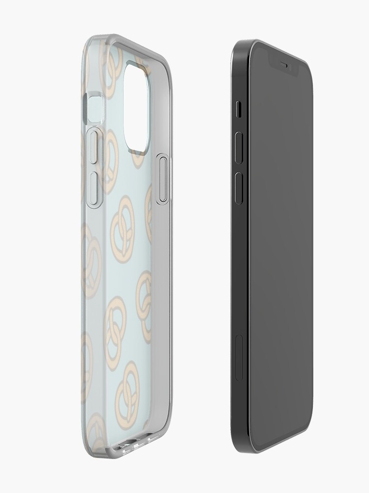 Alternate view of I Heart Pretzels Pattern iPhone Case & Cover
