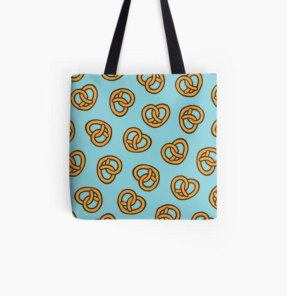 I Heart Pretzels Pattern All Over Print Tote Bag