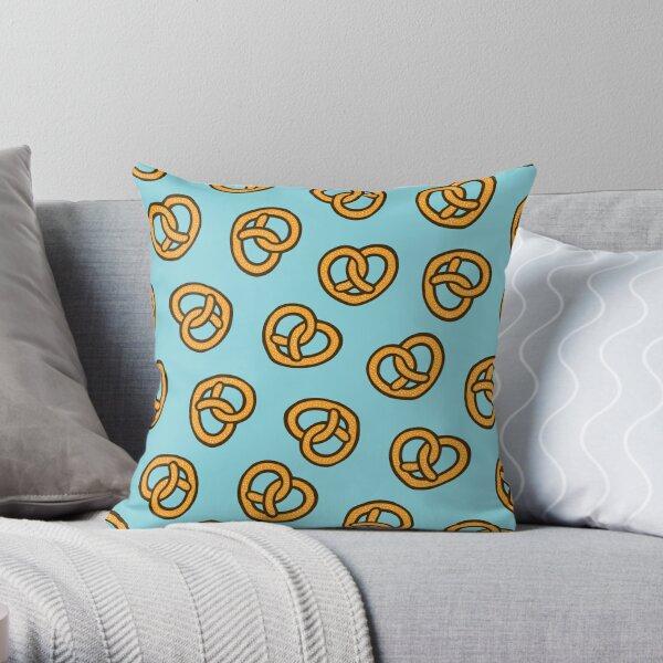 I Heart Pretzels Pattern Throw Pillow