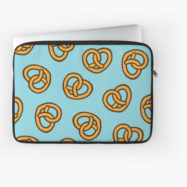 I Heart Pretzels Pattern Laptop Sleeve