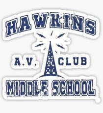 Stranger Things 2 - Hawkins AV Club Sticker