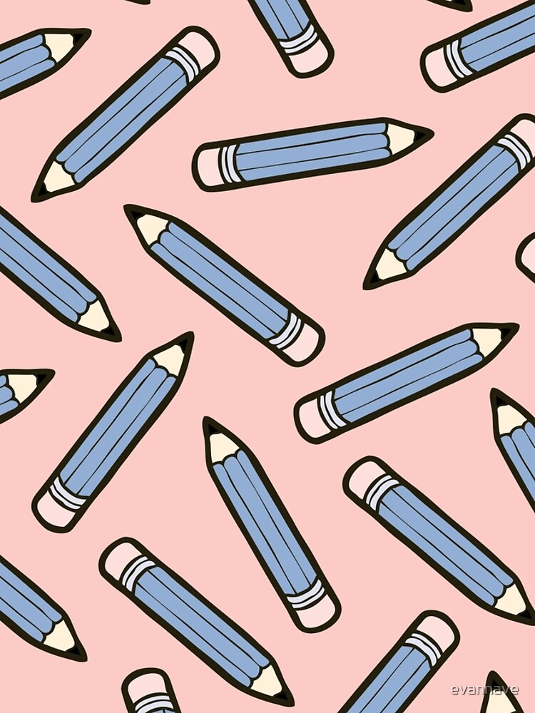Pencil Power Rose Quartz & Serenity Pattern by evannave