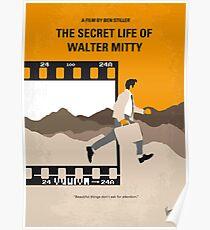 No806 Mein Das geheime Leben von Walter Mitty minimales Filmplakat Poster