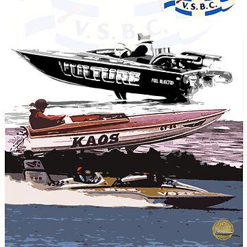 Victorian Speed Boat Club Art by harrisonformula
