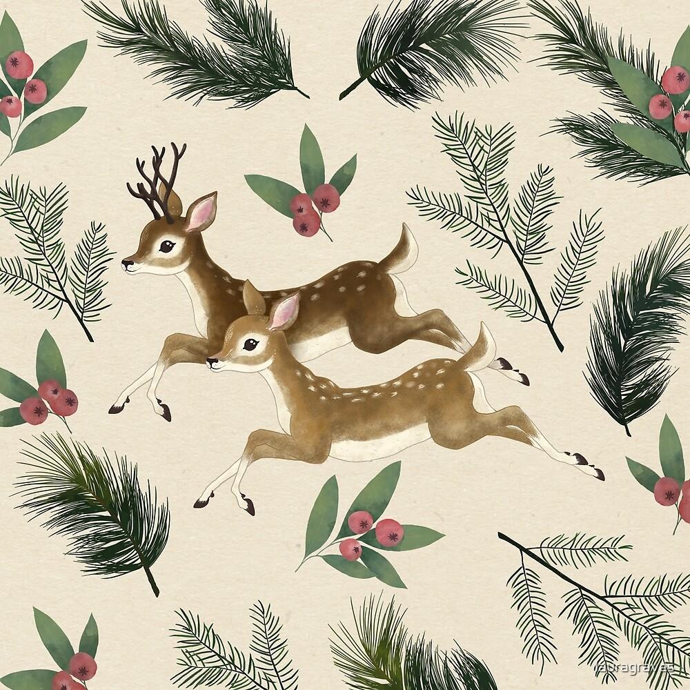 winter deer // repeat pattern by lauragraves