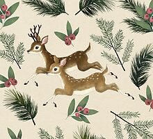 winter deer // repeat pattern by lauragraves