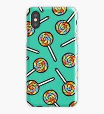 Rainbow Lollipop Pattern iPhone Case